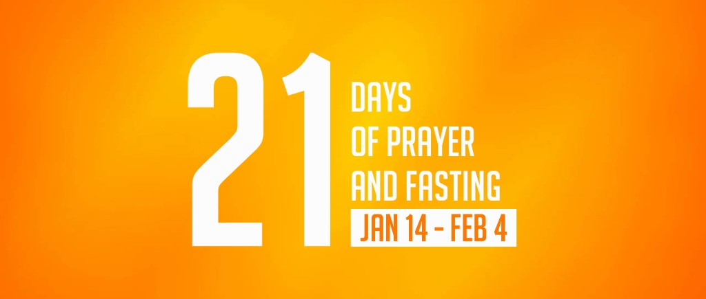 21 Days of Prayer and Fasting (Inside Banner)